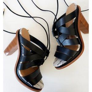 Black Calvin Klein Penelope lace up sandal